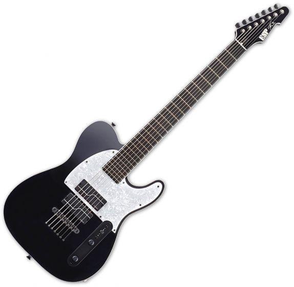 ESP Stephen Carpenter Signature STEF-T7B Baritone 7 String Electric Guitar Black ESTEFT7BBLKF