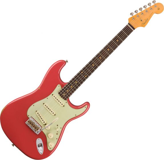 Fender Custom Shop 1960 Relic Stratocaster Electric Guitar Aged Fiesta Red 1530160840