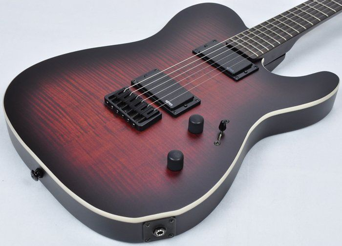 ESP LTD TE-406 FM Electric Guitar in Dark Brown Sunburst Satin LTE406FMDBSBS