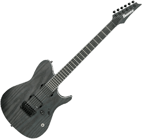 Ibaenz FR IRON LABEL FRIX6FEAH Electric Guitar in Charcoal Stained Flat FRIX6FEAHCSF