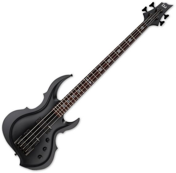 ESP LTD Tom Araya TA-204 FRX Electric Bass Black Satin LTA204FRXBLKS