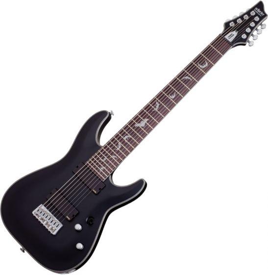 Schecter Damien Platinum-8 Electric Guitar Satin Black sku number SCHECTER1187