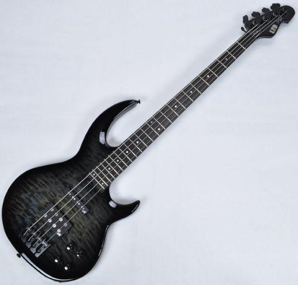 ESP LTD BB-1004QM Bunny Brunel Electric Bass in See Thru Black B-Stock sku number LBB1004QMSTBLK