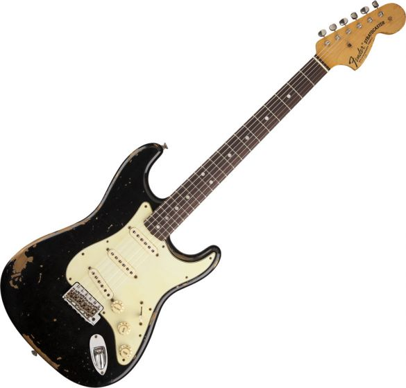 Fender Custom Shop Michael Landau Signature 1968 Relic Stratocaster Electric Guitar Black 1552200806