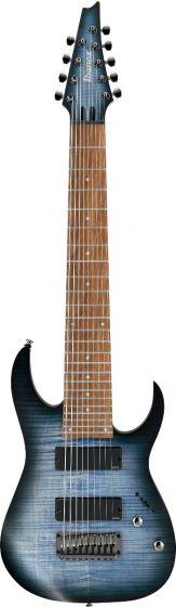 """Ibanez RGIR9FME FDF RG Iron Label 9 String 28"""" scale Faded Denim Burst Flat Electric Guitar RGIR9FMEFDF"""