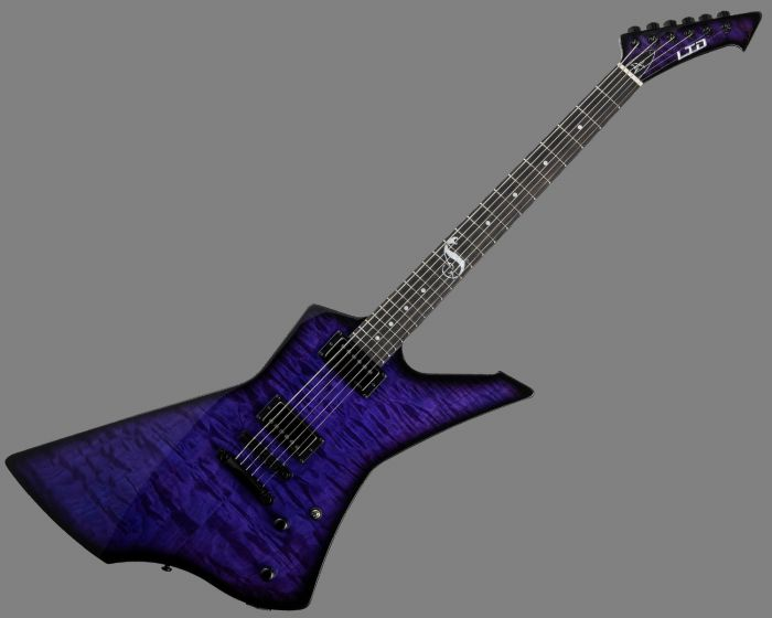 ESP LTD Snakebyte James Hetfield Baritone Guitar in See Thru Purple Sunburst LSNAKEBYTESTPSB