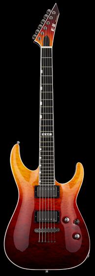 ESP E-II Horizon NT-II Tiger Eye Amber Fade Electric Guitar w/Case EIIHORNTIITEAFD