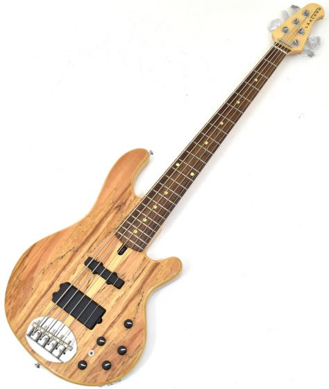 Lakland Skyline Series 55-02 Deluxe Spalted Maple Top 5 String Electric Bass Natural S55-02D NAT