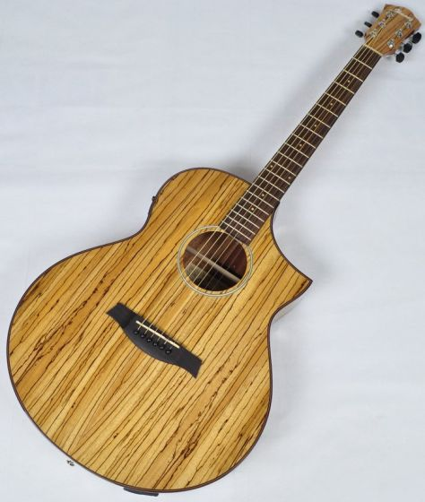 Ibanez AEW40ZW-NT AEW Series Acoustic Electric Guitar in Natural High Gloss Finish sku number AEW40ZWNT