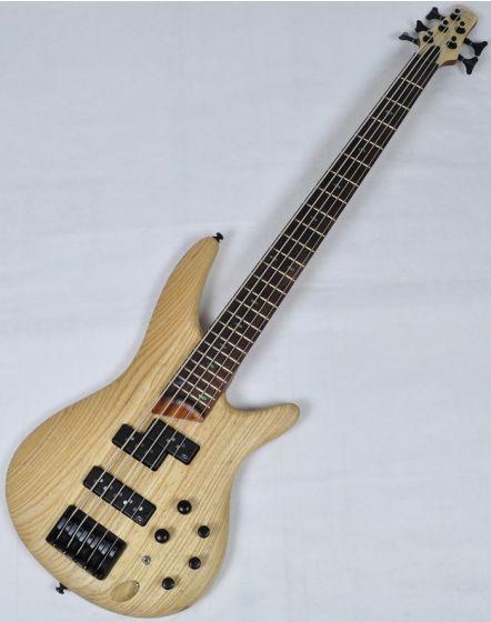 Ibanez SR655-NTF SR Series 5 String Electric Bass in Natural Flat Finish sku number SR655NTF