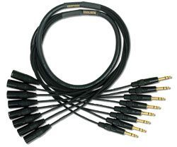 Mogami Gold 8 TRS-XLRM Cable 25 ft. GOLD 8 TRSXLRM-25