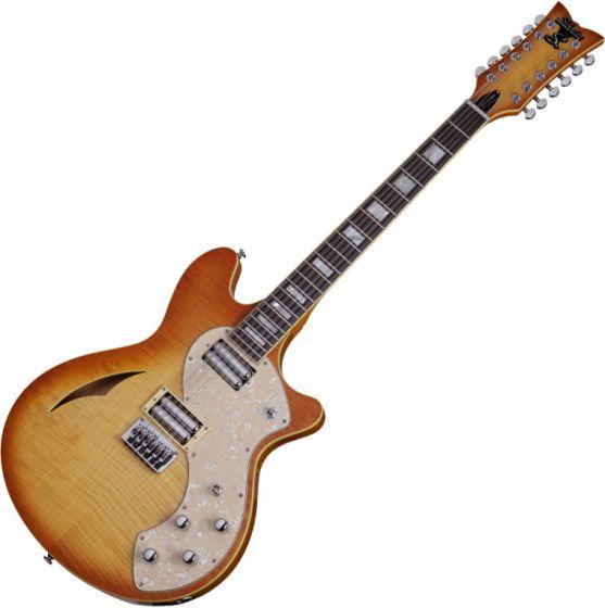 Schecter TSH-12 Classic Electric Guitar Vintage Natural Burst SCHECTER180