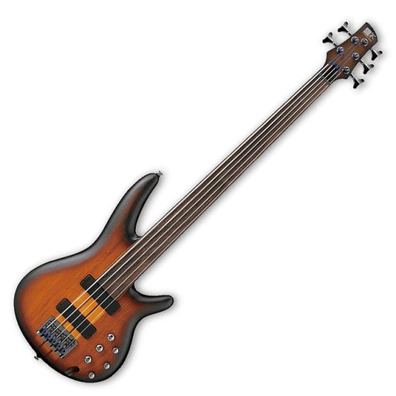 Ibanez SRF705-BBF SR Workshop Series 5 String Electric Bass in Brown Burst Flat Finish SRF705BBF