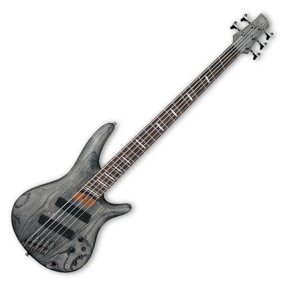 Ibanez SRFF805-BKS SR Workshop Series 5 String Multi-Scale Electric Bass in Black Stained Finish sku number SRFF805BKS