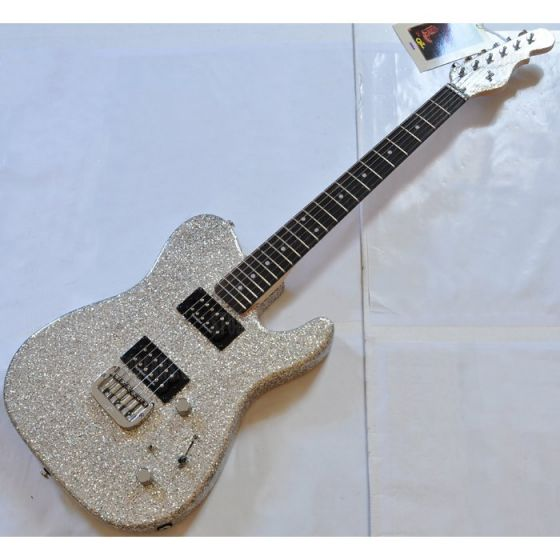 G&L ASAT Deluxe USA Custom Made Guitar in Silver Flake sku number 102039