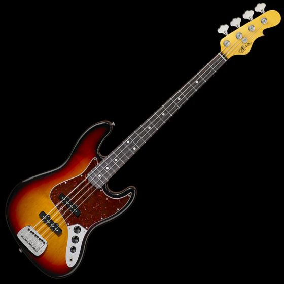 G&L JB USA Custom Made Electric Bass in 3 Tone Sunburst 105039