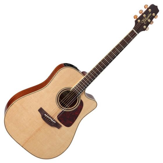 Takamine P4DC Pro Series 4 Cutaway Acoustic Guitar in Natural Gloss Finish sku number TAKP4DC