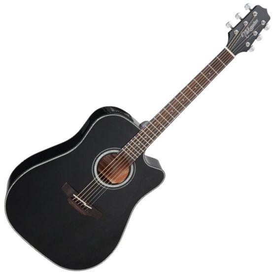 Takamine GD30CE-BLK G-Series G30 Acoustic Electric Guitar in Black Finish sku number TAKGD30CEBLK