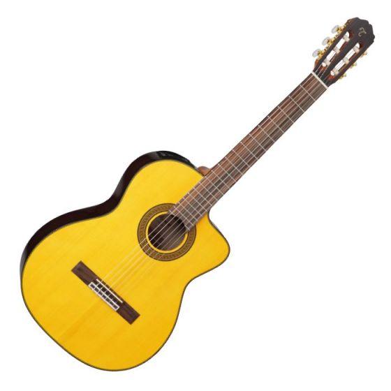 Takamine GC5CE-NAT G-Series Acoustic Electric Classical Guitar in Natural Finish sku number TAKGC5CENAT