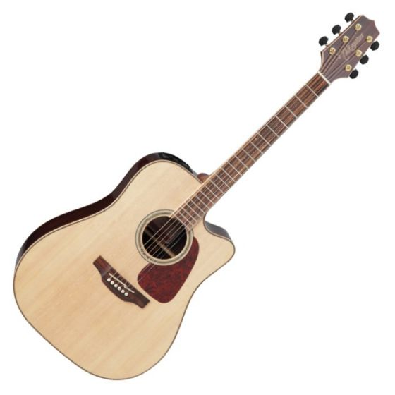 Takamine GD93CE-NAT G-Series G90 Cutaway Acoustic Electric Guitar in Natural Finish sku number TAKGD93CENAT