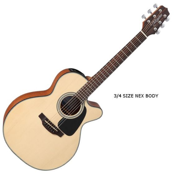 Takamine GX18CE-NS G-Series Mini Acoustic Guitar in Natural Finish TAKGX18CENS