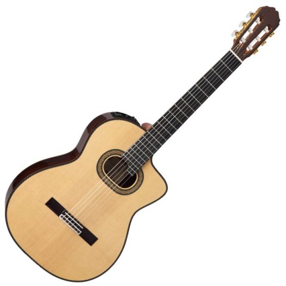 Takamine TH90 Classical Acoustic Electric Guitar in Natural Gloss Finish TAKTH90