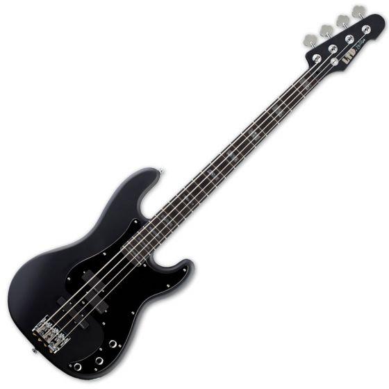 ESP LTD FB-4 Frank Bello Electric Bass in Black Satin LFB4BLKS