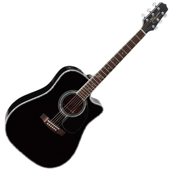 Takamine Signature Series SW341SC Steve Wariner Acoustic Guitar in Gloss Black Finish TAKSW341SC