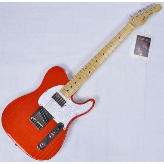 G&L ASAT Classic Bluesboy USA Custom Made Guitar in clear orange empress body USA ASTCB-CLRORG-MP 2081