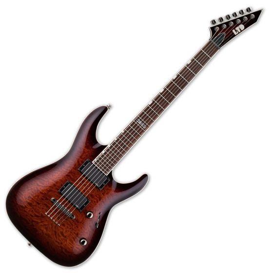 ESP LTD MH-350NT Guitar in Dark Brown Sunburst LMH350NTDBSB