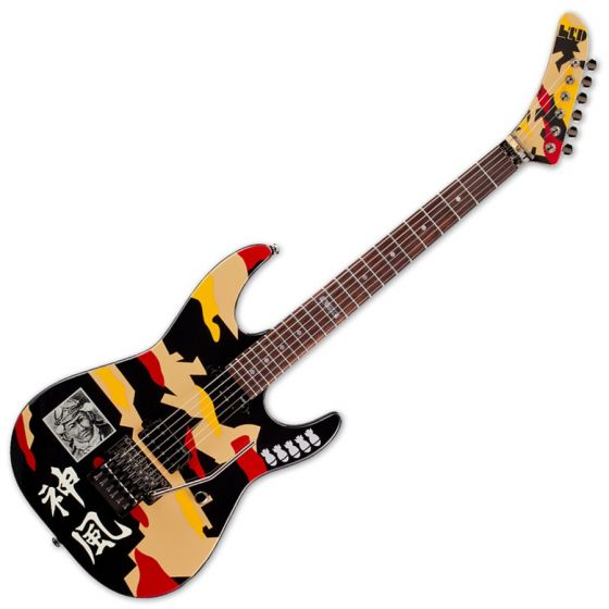 ESP LTD GL-200K George Lynch Electric Guitar in Kamikaze finish sku number LGL200K