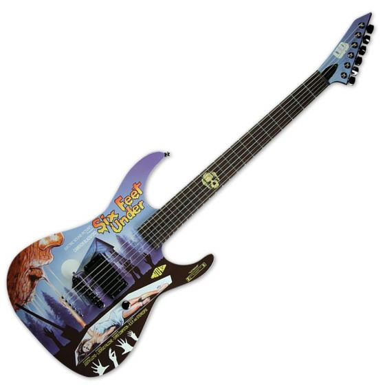 ESP LTD Six Feet Under Limited Horror Series Electric Guitar with case sku number LMSIXFEETUNDER