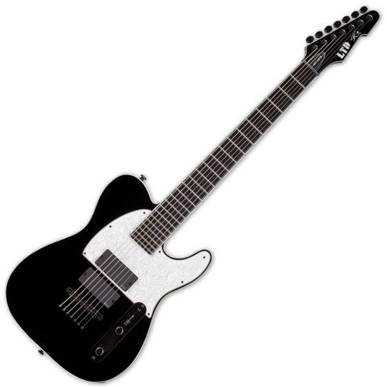 ESP LTD SCT-607B Stephen Carpenter Baritone Electric Guitar in Black LSCT607BBLK