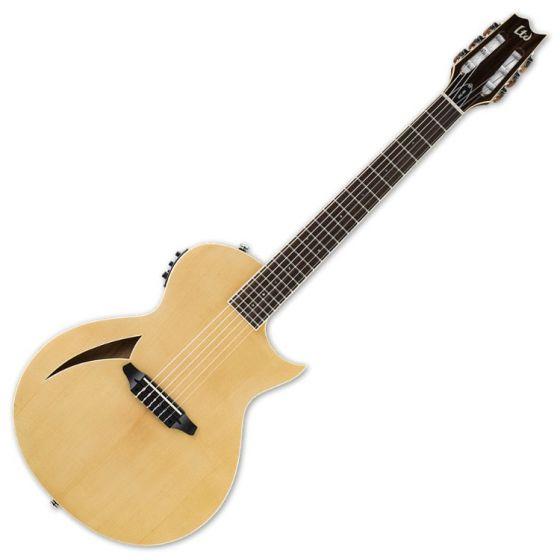 ESP LTD TL-6N Nylon String Acoustic Electric Guitar in Natural Finish LTL6NNAT