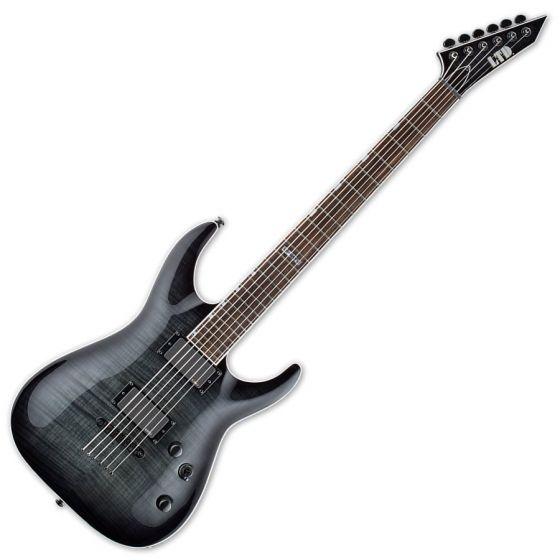 ESP LTD MH-401B FM Guitar in See-Thru Black Sunburst LMH401BFMSTBLKSB