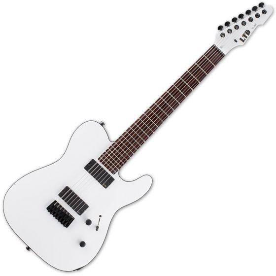 ESP LTD TE-407 Guitar in Snow White Satin Finish LTE407SWS