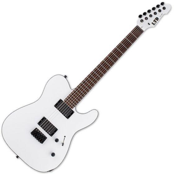 ESP LTD TE-406 Guitar in Snow White Satin Finish sku number LTE406SWS