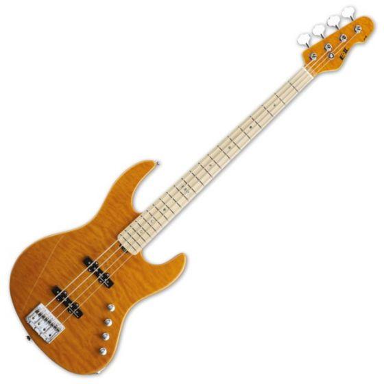 ESP E-II J-4QM AMB Amber Electric Bass Guitar EIIJ4QMAMBA