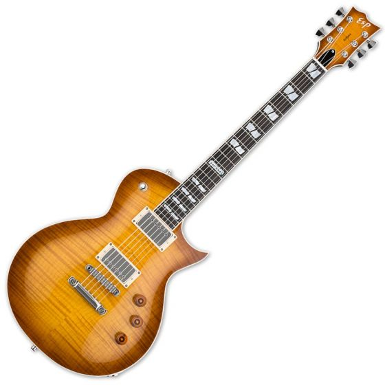 ESP USA Eclipse EMG Electric Guitar in Tea Sunburst Finish sku number EUSECEMGTSB