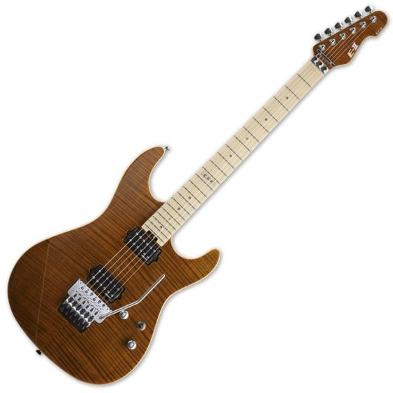 ESP E-II ST-2 FM TE Maple Fretboard Tiger Eye Finish Electric Guitar sku number EIIST2FMTE