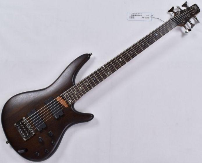 Ibanez SRC6 6 String Electric Bass in Walnut Flat B-Stock sku number SRC6WNF.B