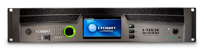 Crown Audio I-Tech 4x3500HDB Four-channel 4000W Power Amplifier G4X3500HDB-U-US