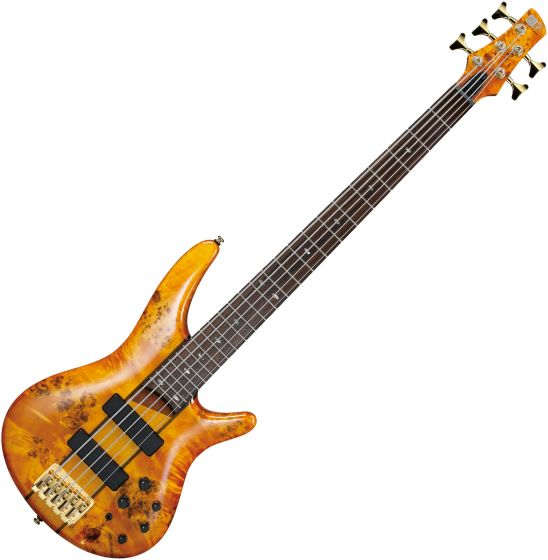 Ibanez SR Standard SR805 5 String Electric Bass Amber SR805AM
