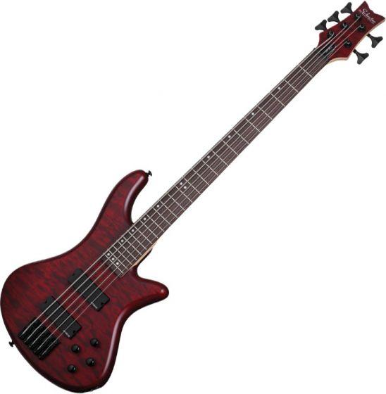 Schecter Stiletto Custom-5 Electric Bass Vampyre Red Satin sku number SCHECTER2538
