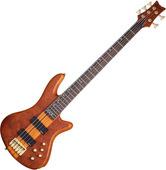 Schecter Stiletto Studio-5 Electric Bass Honey Satin sku number SCHECTER2720