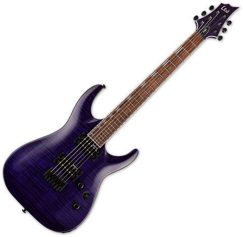 ESP LTD H-200FM Electric Guitar See Thru Purple LH200FMSTP