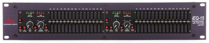 dbx iEQ15 Dual 15-Band Graphic EQ with Type V NR and AFS DBXIEQ15
