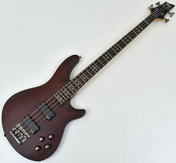 Schecter Omen-4 Electric Bass in Walnut Satin Finish sku number SCHECTER2091
