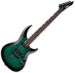 ESP LTD H3-1000 Electric Guitar Black Turquoise Burst LH31000FMBLKTB