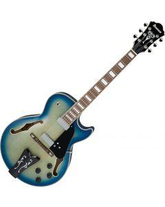 Ibanez George Benson GB10EM Signature Hollow Body Electric Guitar Jet Blue Burst sku number GB10EMJBB